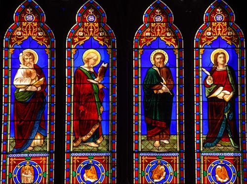 First Universalist Church Providence - evangelists windows