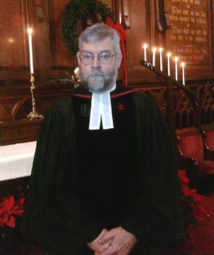 Reverend W. Scott Axford of First Universalist Church Providence RI